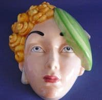 Beswick 'Girl with Curly Hair and Beret' Wall Mask Model No. 314 c1934